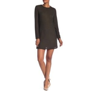 NWT Papillon Long Sleeve Knit Dress in Olive